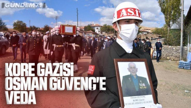 Kırıkkale'de Kore Gazisi Osman Güvenç Vefat Etti
