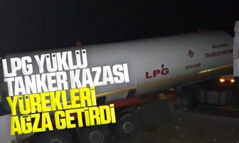 Kırıkkale'de Trafik Kazası; LPG Yüklü Tanker Şarampole Düştü 1 Yaralı