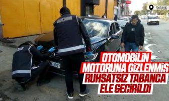 Kırıkkale'de Otomobilin Motor Kısmına Gizlenen Ruhsatsız Tabanca Geçirildi