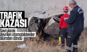 Kırıkkale'de Trafik Kazası; 1'i Ağır 2 Kişi Yaralandı