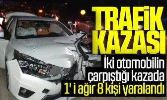 Kırıkkale'de Trafik Kazası; 1'i Ağır 8 Yaralı