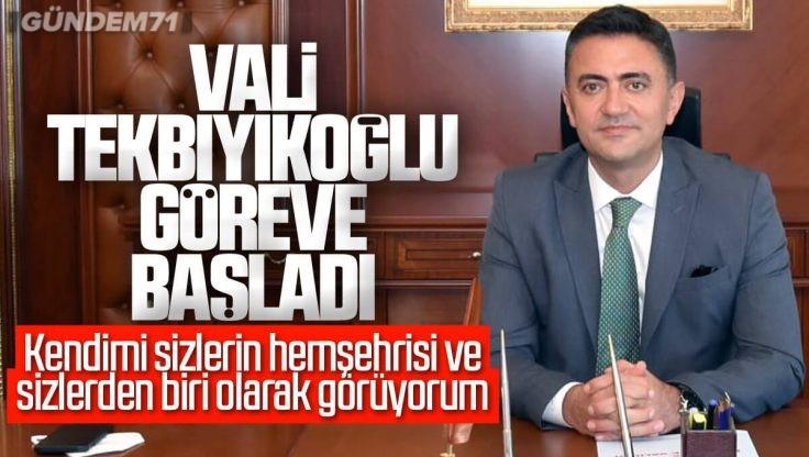 Kırıkkale Valisi Bülent Tekbıyıkoğlu Görevine Başladı