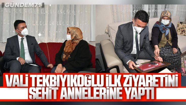 Kırıkkale Valisi Bülent Tekbıyıkoğlu İlk Ziyaretini Şehit Annelerine Yaptı