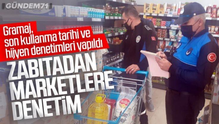 Kırıkkale'de Zabıtadan Marketlere Denetim