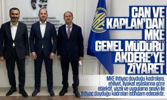 Ramazan Can ve Mustafa Kaplan'dan MKE Genel Müdürü Yasin Akdere'ye Ziyaret